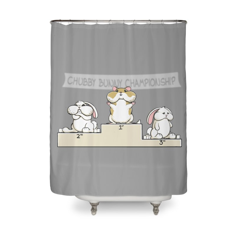 Chubby Bunny Home Shower Curtain by Gyledesigns' Artist Shop