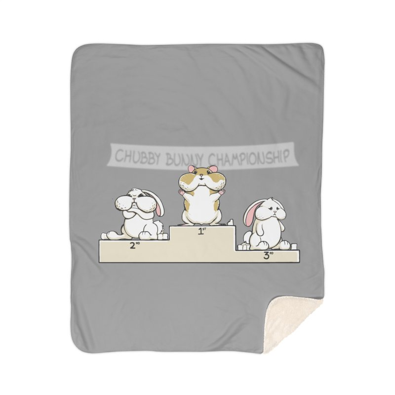 Chubby Bunny Home Sherpa Blanket Blanket by Gyledesigns' Artist Shop