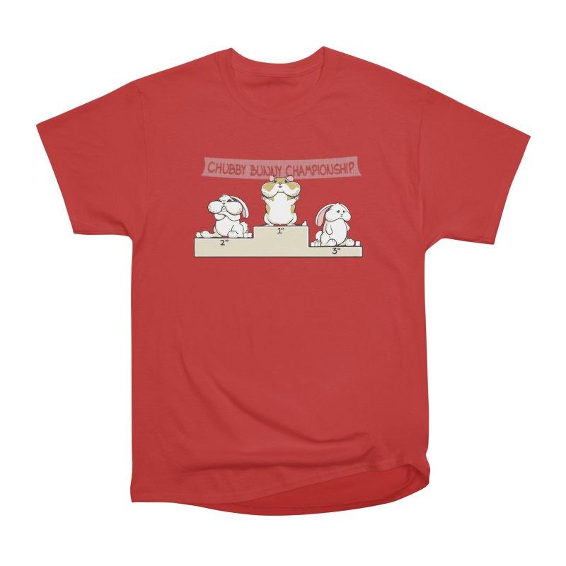Chubby Bunny Women's Heavyweight Unisex T-Shirt by Gyledesigns' Artist Shop