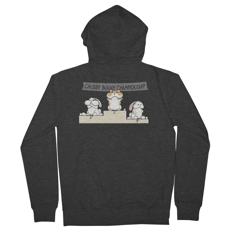 Chubby Bunny Women's French Terry Zip-Up Hoody by Gyledesigns' Artist Shop