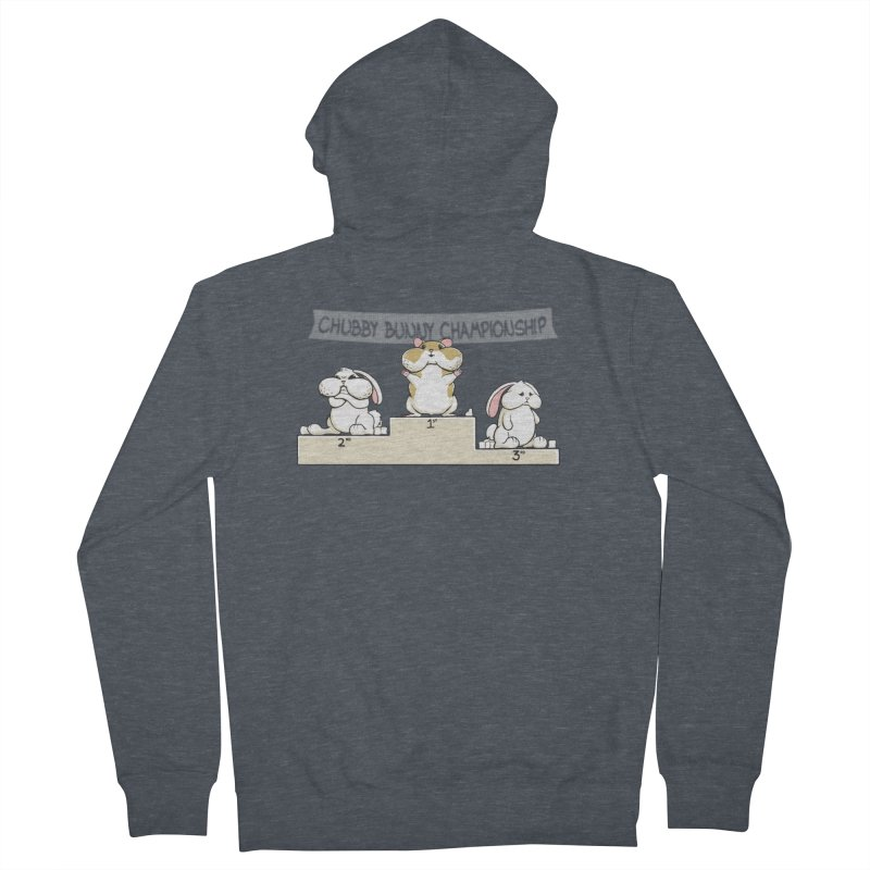 Chubby Bunny Men's French Terry Zip-Up Hoody by Gyledesigns' Artist Shop