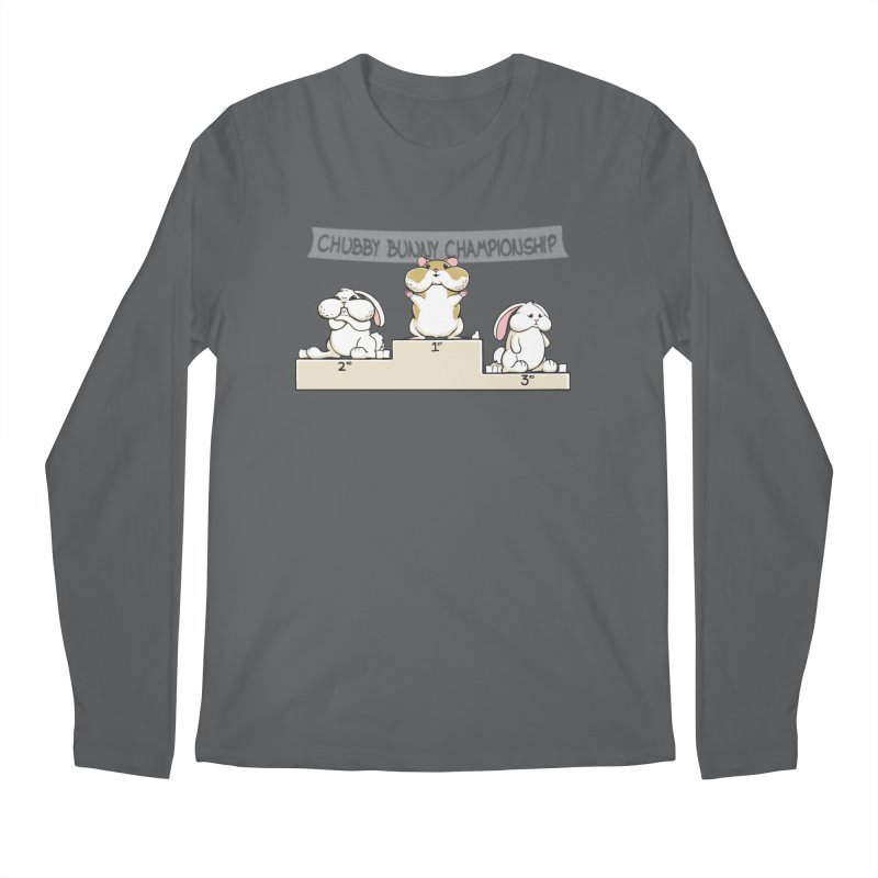 Chubby Bunny Men's Regular Longsleeve T-Shirt by Gyledesigns' Artist Shop