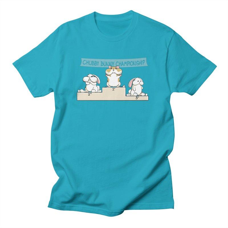 Chubby Bunny Men's T-Shirt by Gyledesigns' Artist Shop