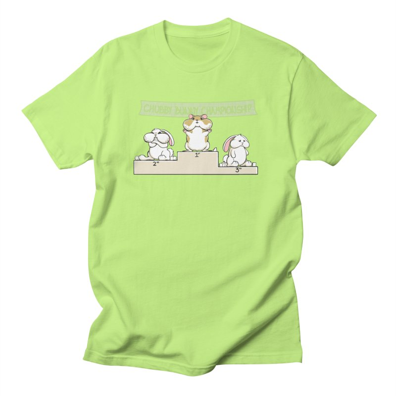 Chubby Bunny Men's T-Shirt by Gyledesigns' Artist Shop