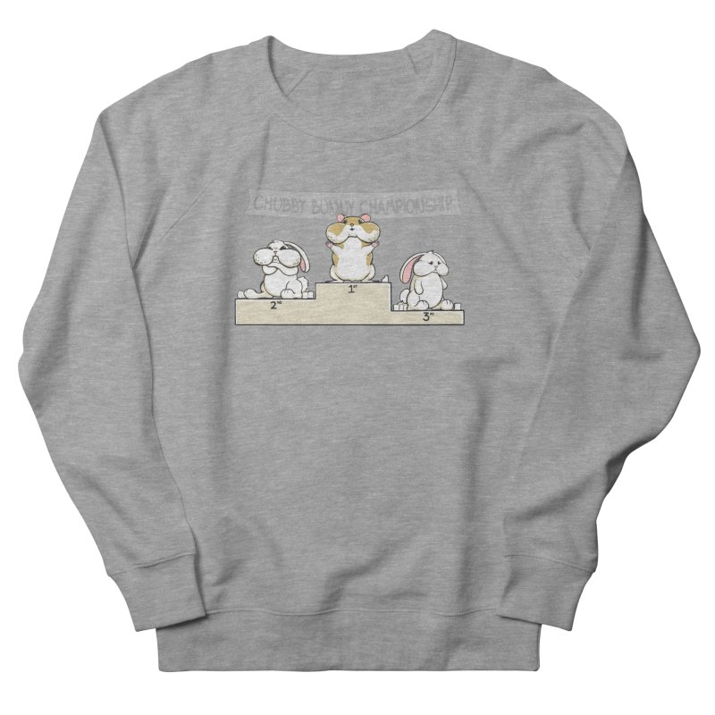 Chubby Bunny Men's French Terry Sweatshirt by Gyledesigns' Artist Shop