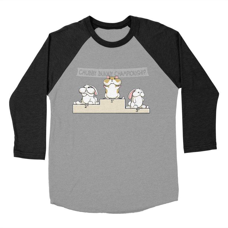 Chubby Bunny Women's Baseball Triblend T-Shirt by Gyledesigns' Artist Shop