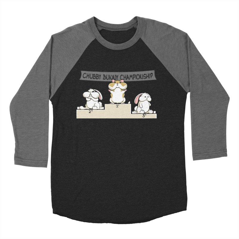 Chubby Bunny Men's Baseball Triblend T-Shirt by Gyledesigns' Artist Shop