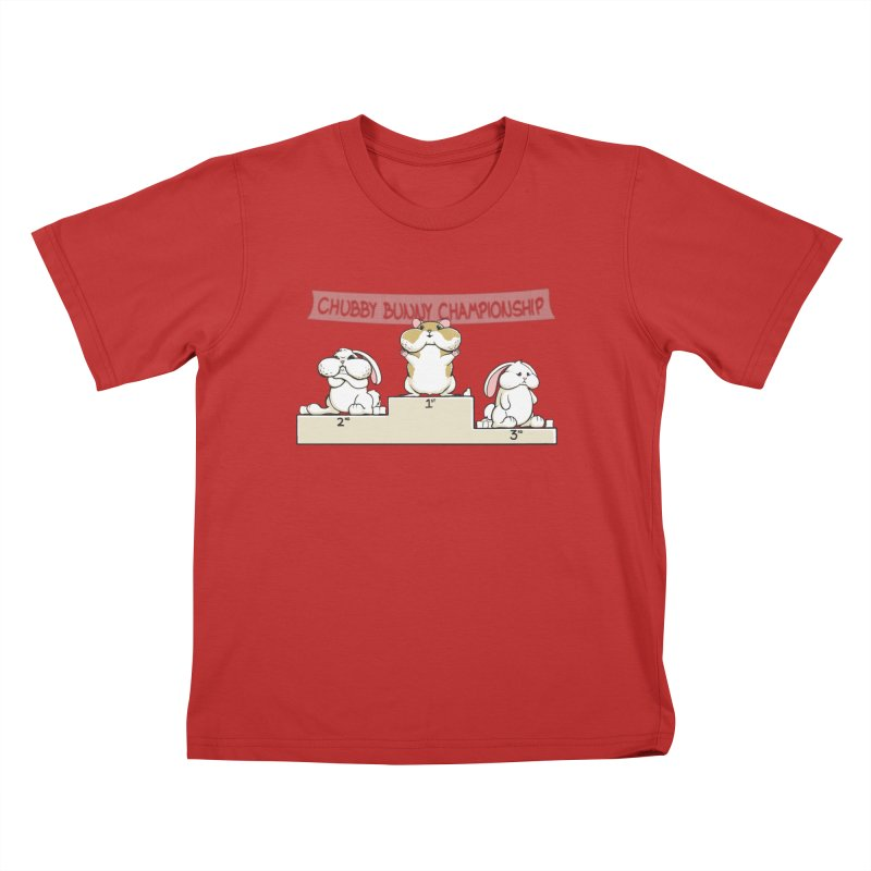 Chubby Bunny Kids T-Shirt by Gyledesigns' Artist Shop