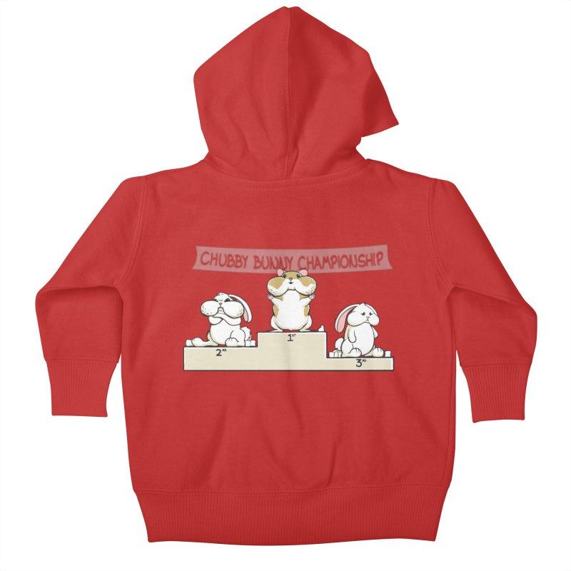Chubby Bunny Kids Baby Zip-Up Hoody by Gyledesigns' Artist Shop