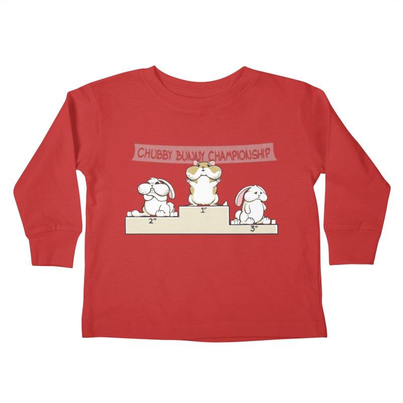 Chubby Bunny Kids Toddler Longsleeve T-Shirt by Gyledesigns' Artist Shop