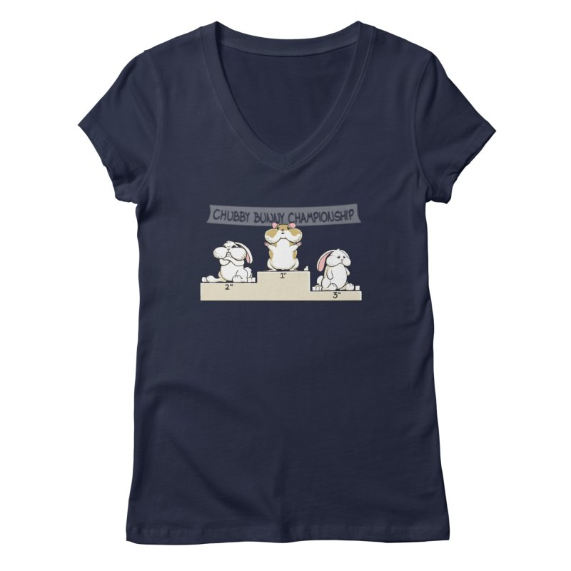 Chubby Bunny Women's Regular V-Neck by Gyledesigns' Artist Shop