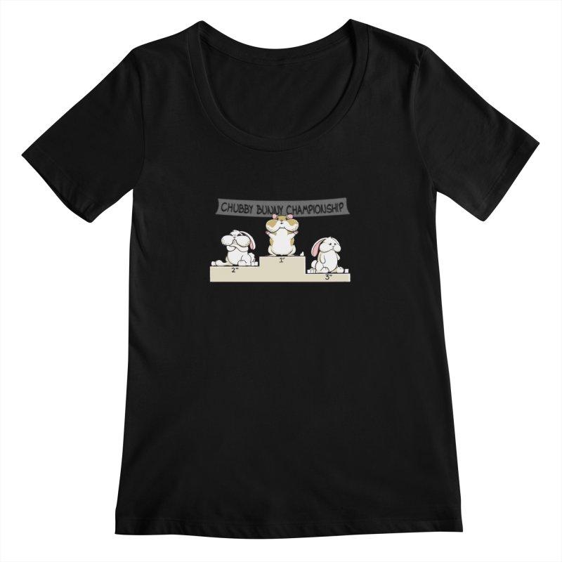 Chubby Bunny Women's Scoopneck by Gyledesigns' Artist Shop