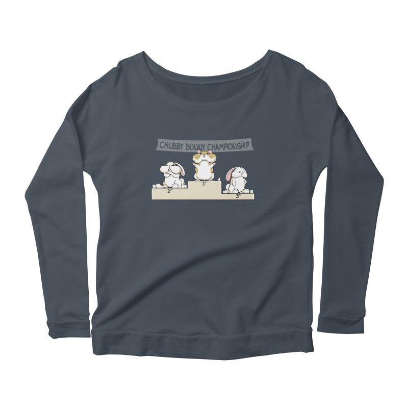 Chubby Bunny Women's Scoop Neck Longsleeve T-Shirt by Gyledesigns' Artist Shop