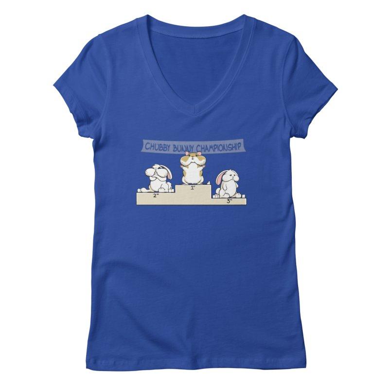 Chubby Bunny Women's Regular V-Neck by Gyledesigns' Artist Shop