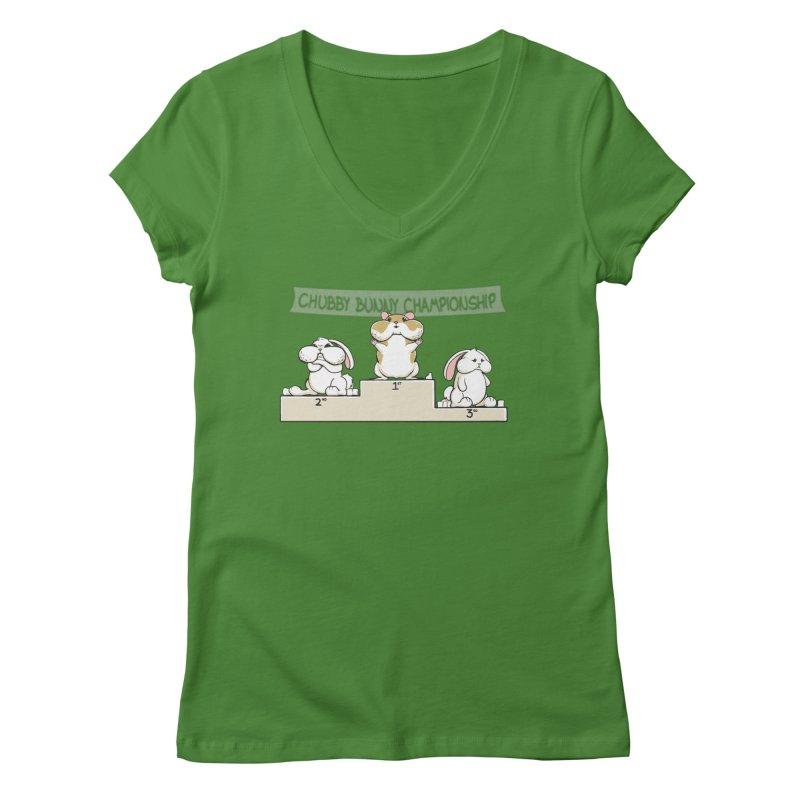 Chubby Bunny Women's V-Neck by Gyledesigns' Artist Shop