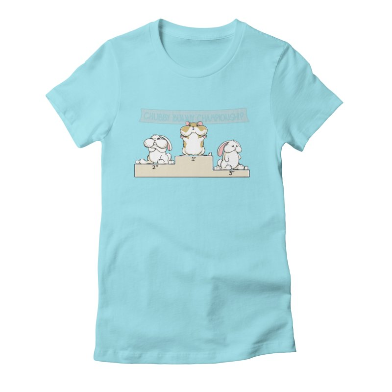 Chubby Bunny Women's Fitted T-Shirt by Gyledesigns' Artist Shop