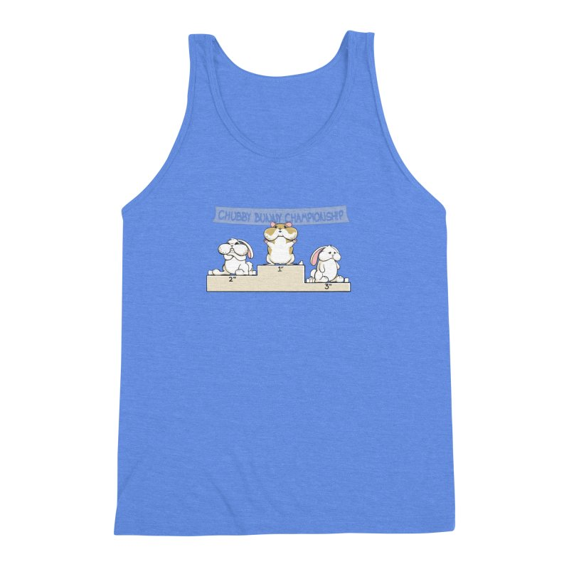 Chubby Bunny Men's Triblend Tank by Gyledesigns' Artist Shop