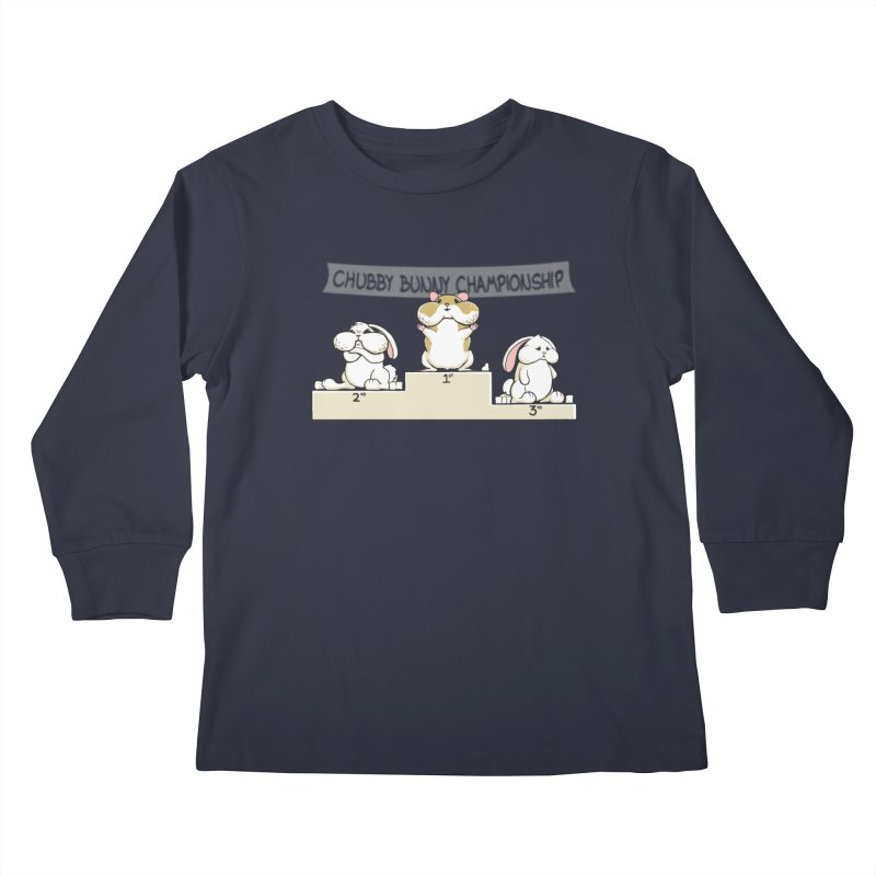 Chubby Bunny Kids Longsleeve T-Shirt by Gyledesigns' Artist Shop