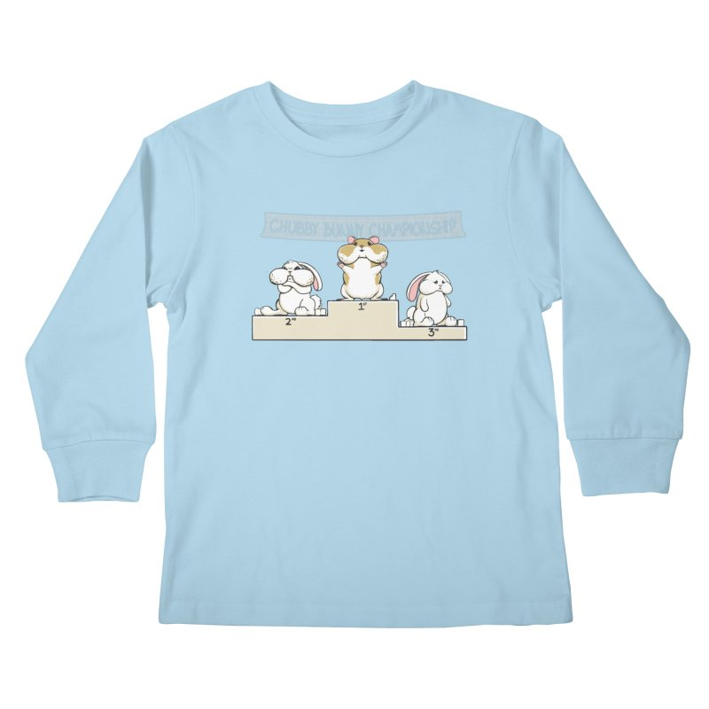 Chubby Bunny Kids Longsleeve T-Shirt by Gyledesigns' Artist Shop