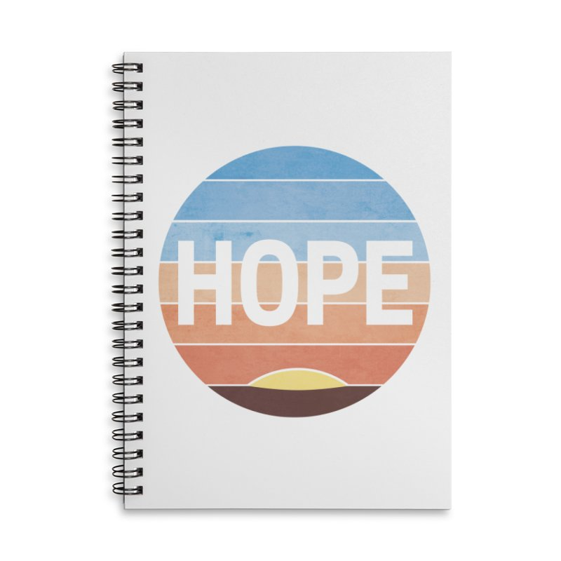 Hope Accessories Lined Spiral Notebook by Gyledesigns' Artist Shop