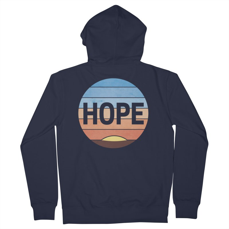 Hope Women's French Terry Zip-Up Hoody by Gyledesigns' Artist Shop