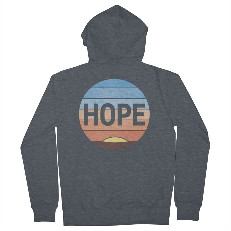 Hope Men's French Terry Zip-Up Hoody by Gyledesigns' Artist Shop