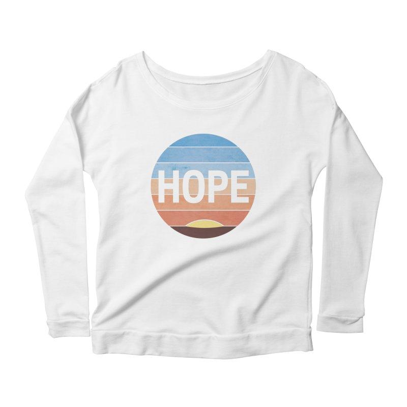 Hope Women's Longsleeve Scoopneck  by Gyledesigns' Artist Shop