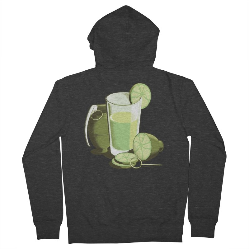 Make Juice Not War Women's French Terry Zip-Up Hoody by Gyledesigns' Artist Shop