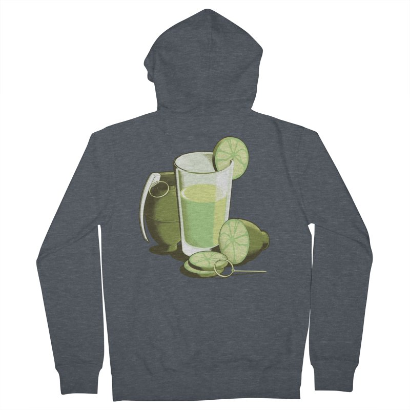 Make Juice Not War Men's French Terry Zip-Up Hoody by Gyledesigns' Artist Shop