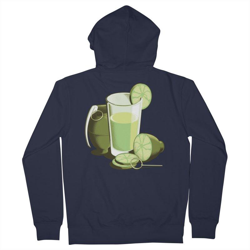 Make Juice Not War Men's French Terry Zip-Up Hoody by Gyledesigns' Artist Shop