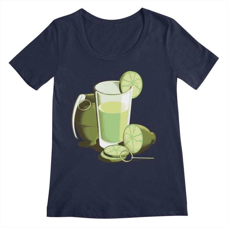 Make Juice Not War Women's Regular Scoop Neck by Gyledesigns' Artist Shop