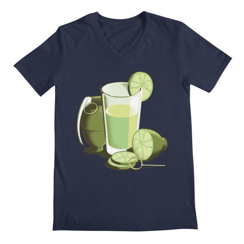 Make Juice Not War Men's Regular V-Neck by Gyledesigns' Artist Shop