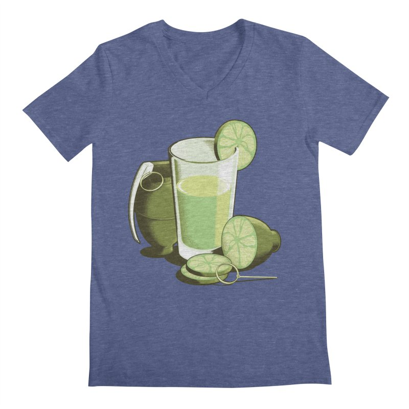 Make Juice Not War Men's Regular V-Neck by Gyledesigns' Artist Shop