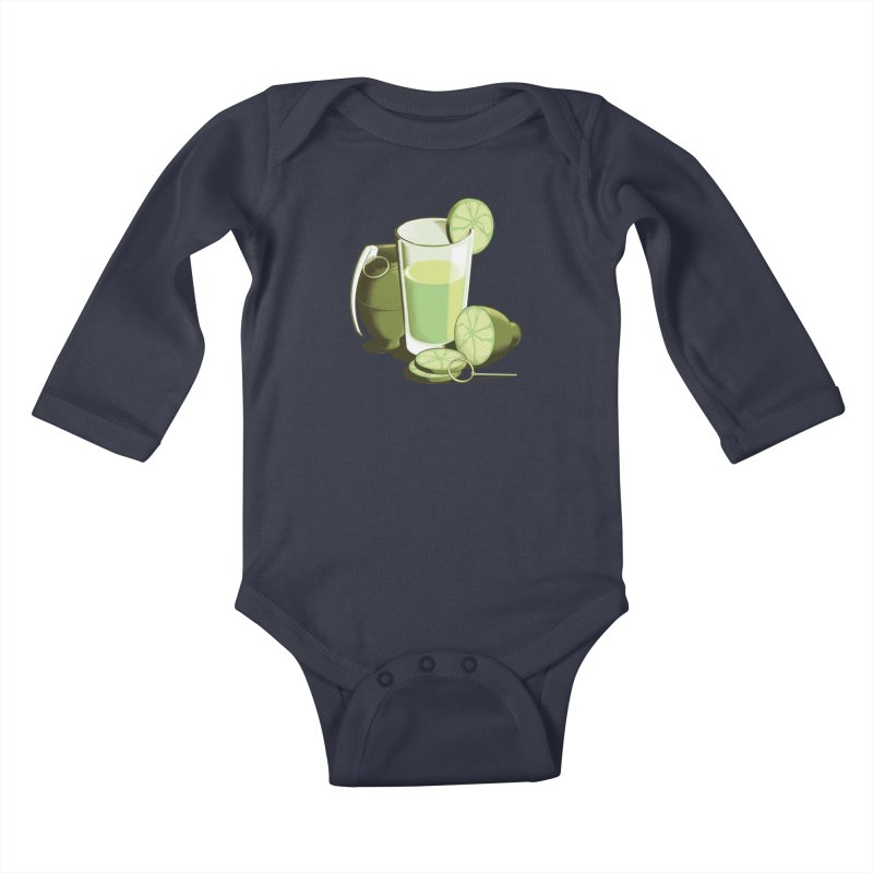 Make Juice Not War Kids Baby Longsleeve Bodysuit by Gyledesigns' Artist Shop
