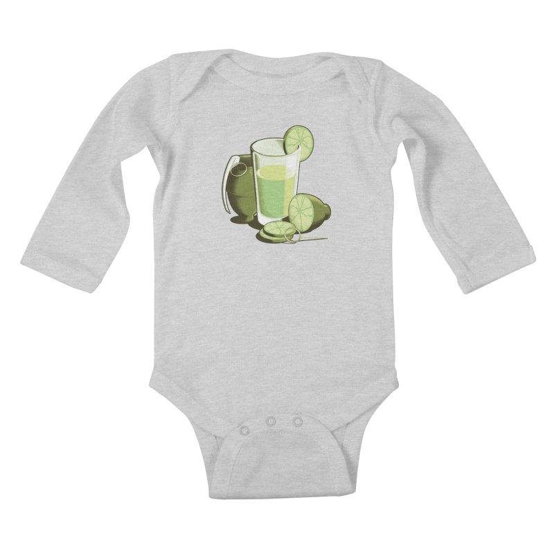 Make Juice Not War Kids Baby Longsleeve Bodysuit by Gyledesigns' Artist Shop