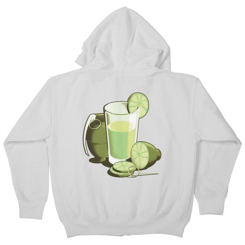 Make Juice Not War Kids Zip-Up Hoody by Gyledesigns' Artist Shop
