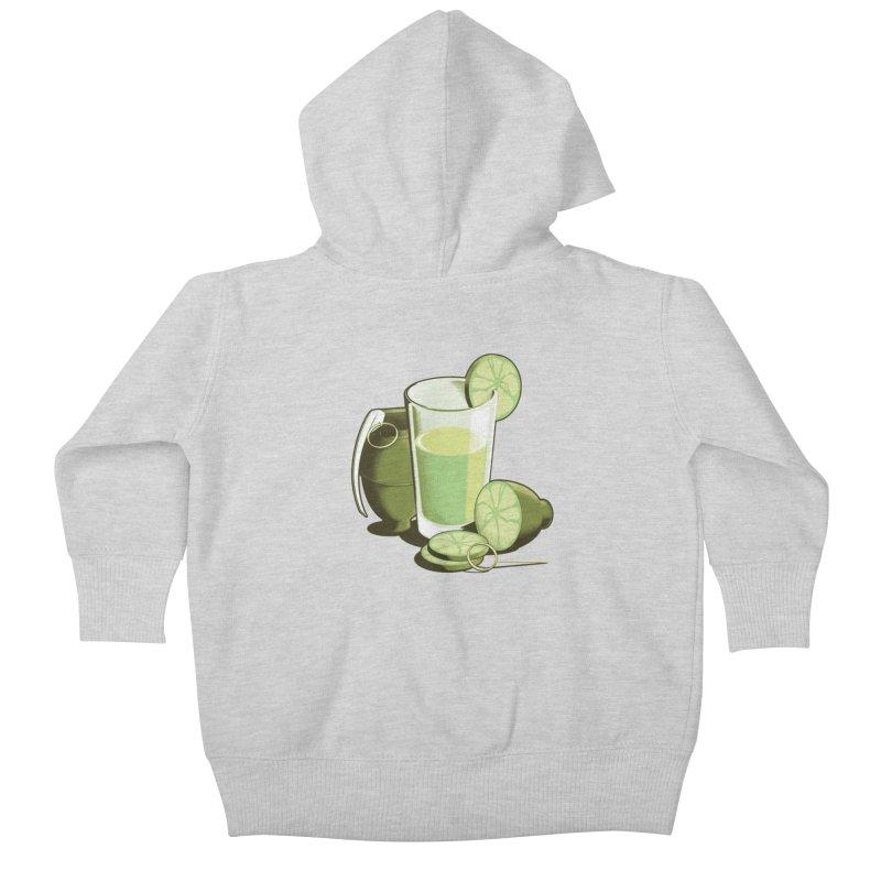 Make Juice Not War Kids Baby Zip-Up Hoody by Gyledesigns' Artist Shop
