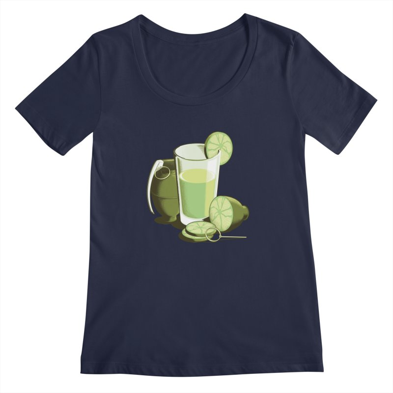 Make Juice Not War Women's Scoopneck by Gyledesigns' Artist Shop