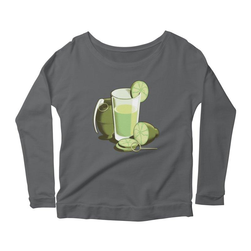 Make Juice Not War Women's Longsleeve Scoopneck  by Gyledesigns' Artist Shop