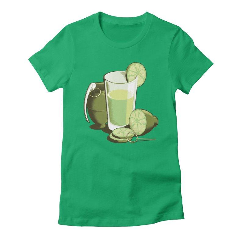 Make Juice Not War Women's Fitted T-Shirt by Gyledesigns' Artist Shop