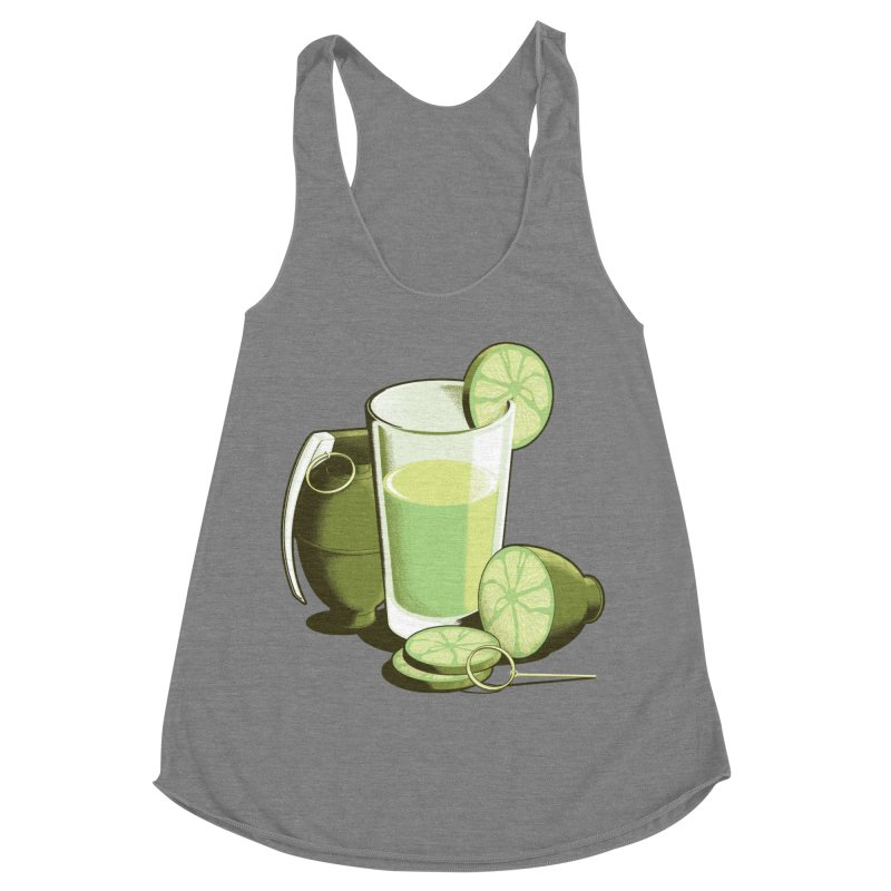 Make Juice Not War Women's Racerback Triblend Tank by Gyledesigns' Artist Shop