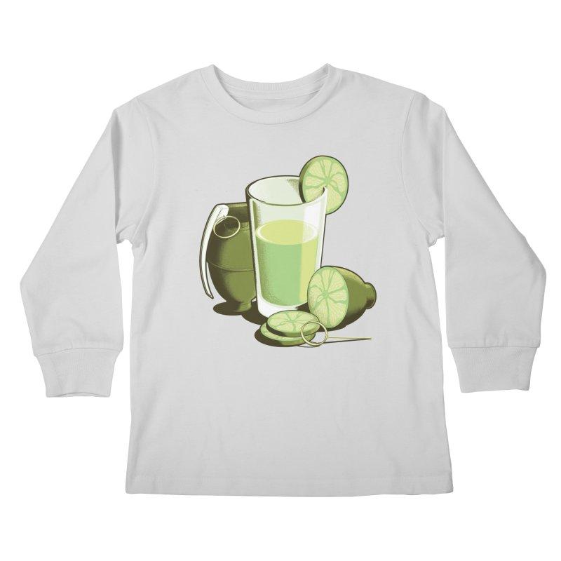 Make Juice Not War Kids Longsleeve T-Shirt by Gyledesigns' Artist Shop