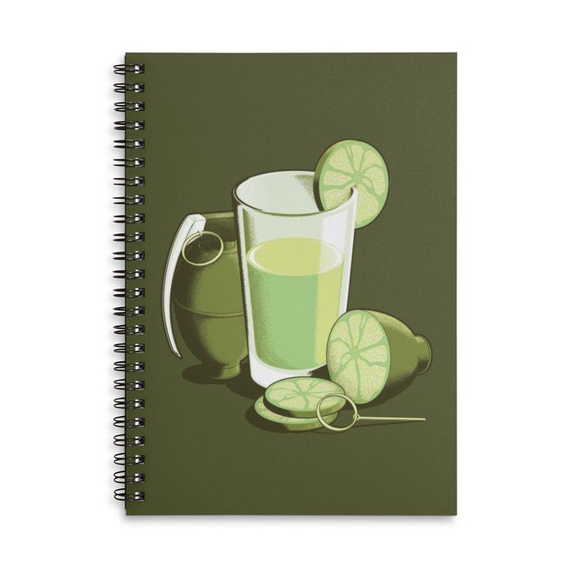 Make Juice Not War Accessories Lined Spiral Notebook by Gyledesigns' Artist Shop