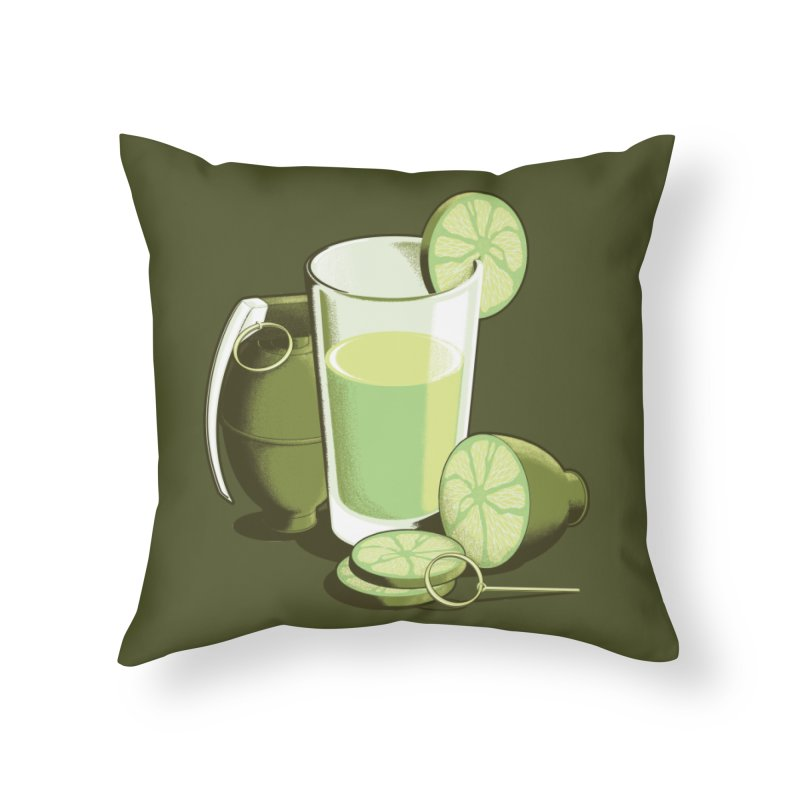 Make Juice Not War Home Throw Pillow by Gyledesigns' Artist Shop