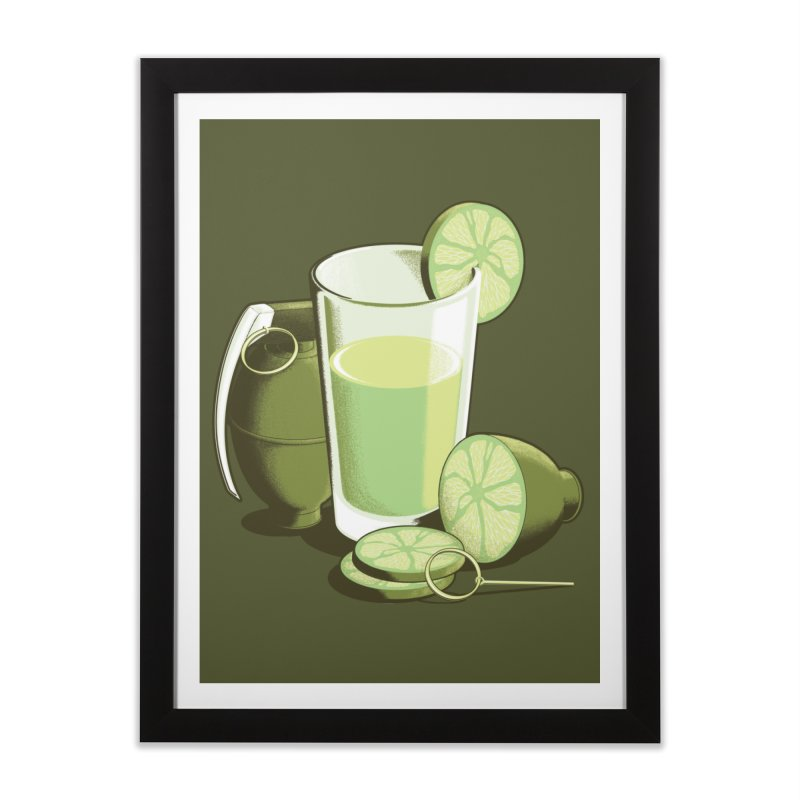 Make Juice Not War Home Framed Fine Art Print by Gyledesigns' Artist Shop