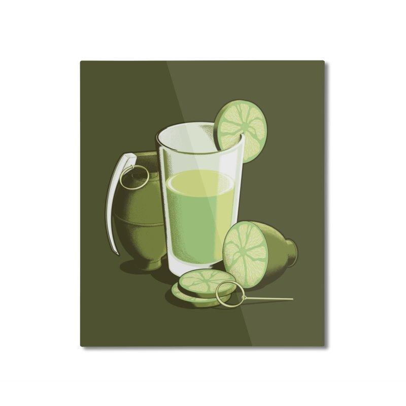 Make Juice Not War Home Mounted Aluminum Print by Gyledesigns' Artist Shop