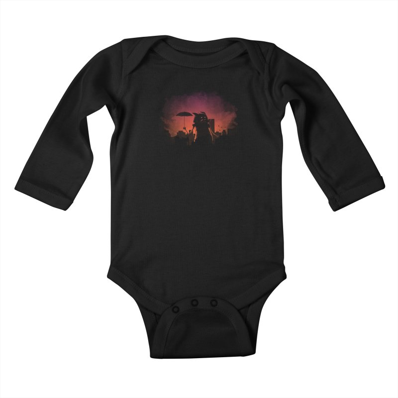 Mr. Mustache Comes To Town Kids Baby Longsleeve Bodysuit by Gyledesigns' Artist Shop