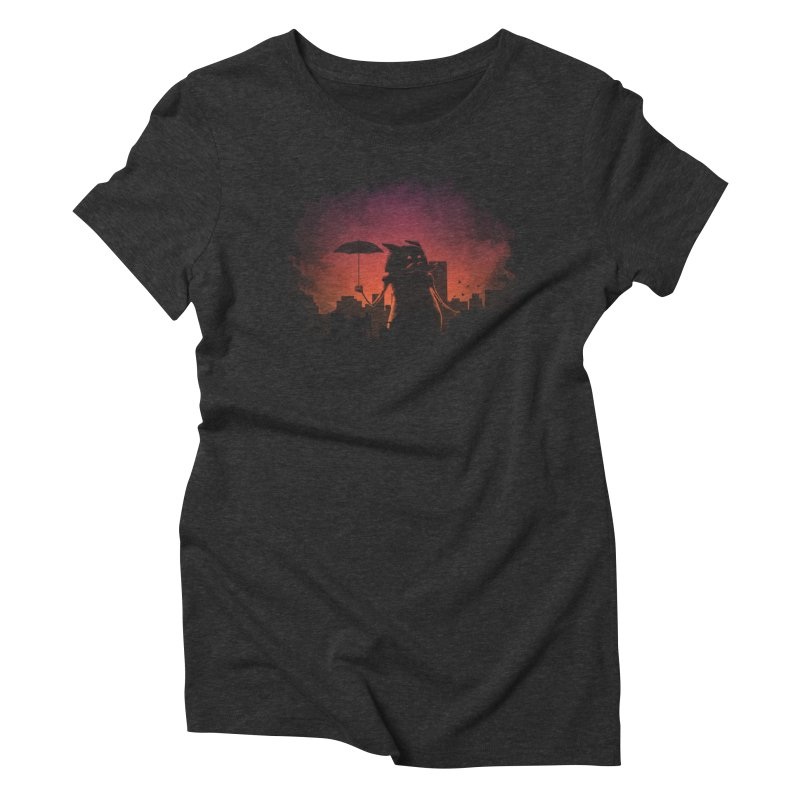 Mr. Mustache Comes To Town Women's Triblend T-Shirt by Gyledesigns' Artist Shop