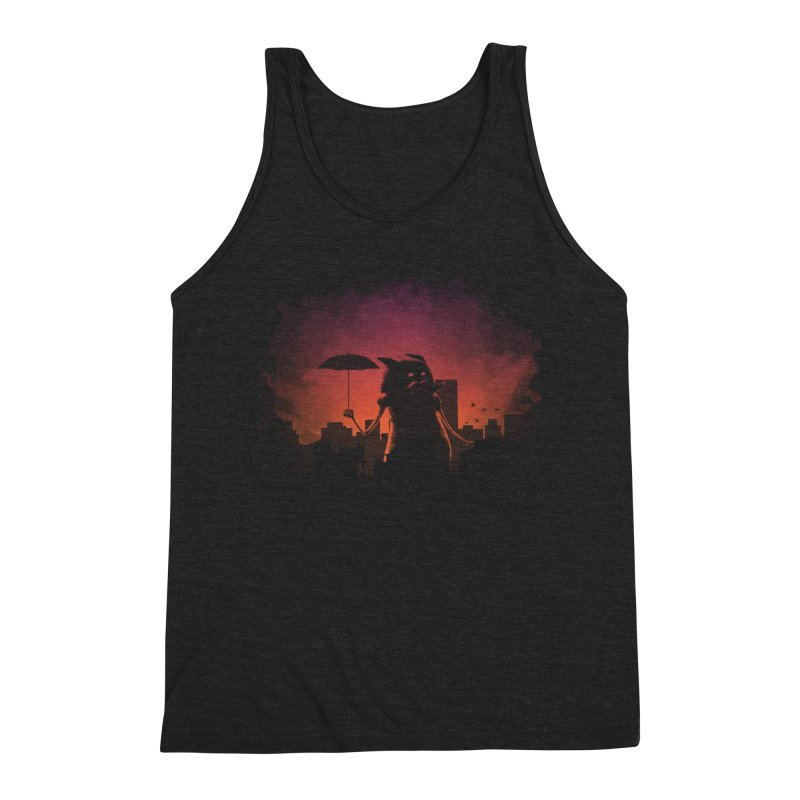 Mr. Mustache Comes To Town Men's Triblend Tank by Gyledesigns' Artist Shop