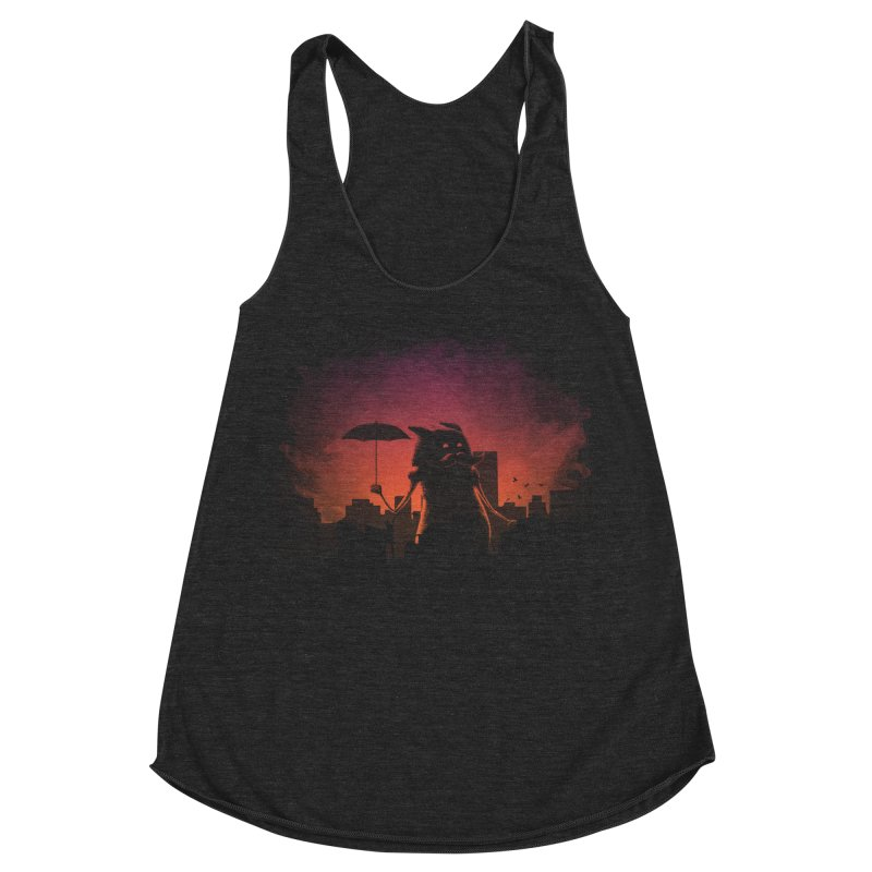 Mr. Mustache Comes To Town Women's Racerback Triblend Tank by Gyledesigns' Artist Shop